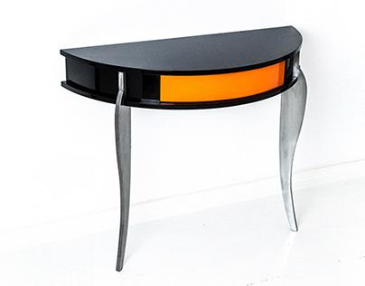 Oranje - Console table (high gloss+steel)