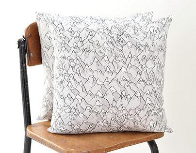 Forever Mountains Pillow | Original Fabric