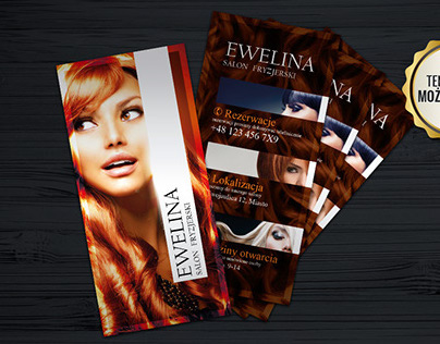 Modern hair salon brochure