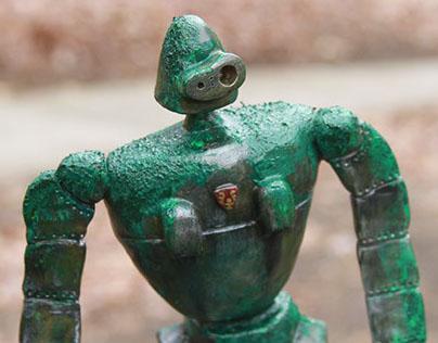 Forgotten Robot Soldier Sculpture