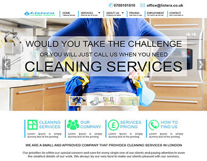 Cleaning Company Web Site | Web Design