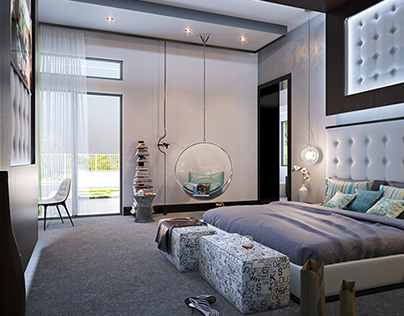 Master bedroom / House in Las Vegas, USA