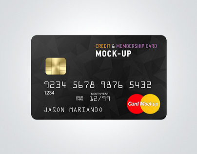 credit bank card mockup on behance. Black Bedroom Furniture Sets. Home Design Ideas