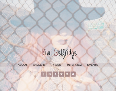 Kimi Selfridge - Website Design