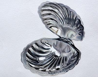 Ilustracion en tintas de objeto de metal
