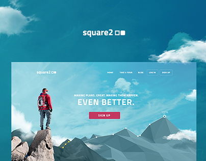 Square2 - Goal Achievement App Homepage