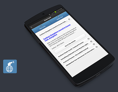 SalvoSM RSS News Feed Reader - Android App