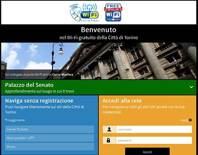 Captive portal - Free Torino WiFi