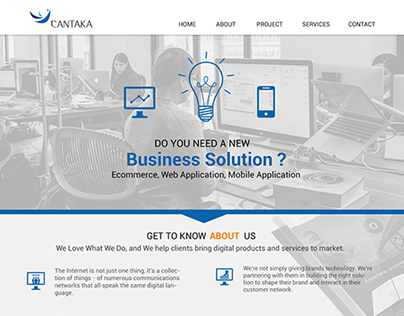 Cantaka | One Page Web Design