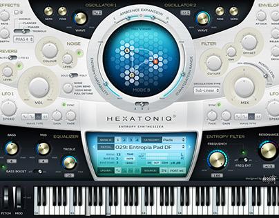 Hexatoniq UI layered PSD