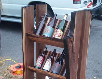 Live Edge Growler and Bottle Rack