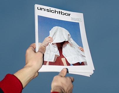 Layout für un:sichtbar Magazin