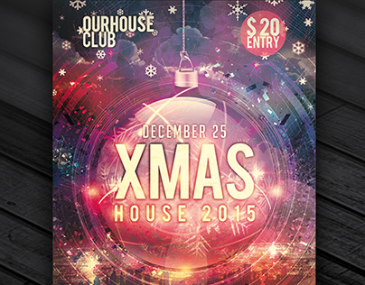 Xmas House – Premium Flyer Template