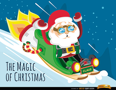 Free Vectors: Christmas Cartoon Charaters. Part 2