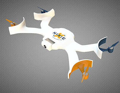Nixie quadrocopter modelling and visualization Figaro3d