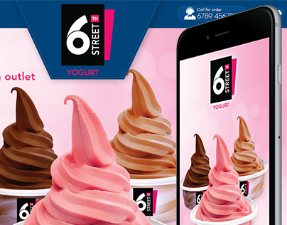 6th Street Yogurt website and App Design