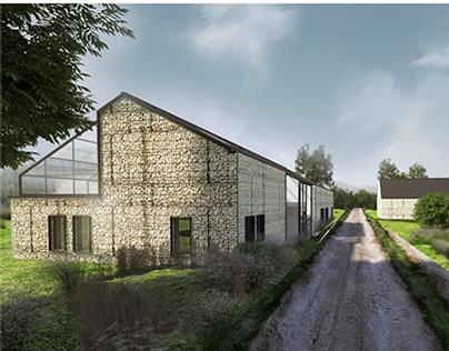 modern rural house