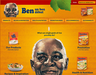 Food Products Website Mockup Proposal (Contest Entry)