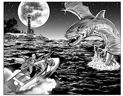 vampire/shark 2 page spread