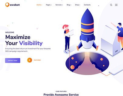 Ewebot - SEO and Digital Marketing Agency WP Theme
