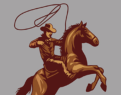 Cow Boy Retro Style- Illustration