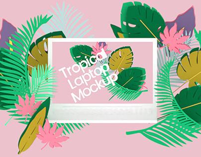 Tropical Laptop Mockup