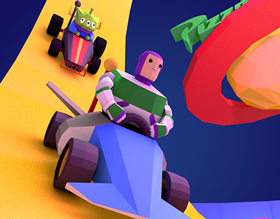 100 Video Game Covers – Toy Story Racer