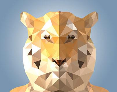 Low Polygonal Tiger