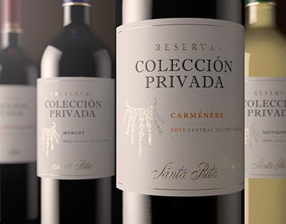 Colección Privada Reserva redesign label · Santa Rita