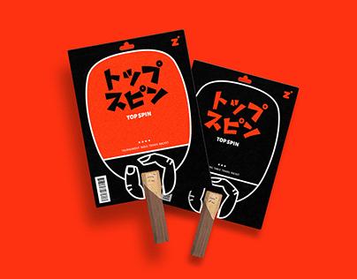TOP SPIN Table Tennis Racket Packaging
