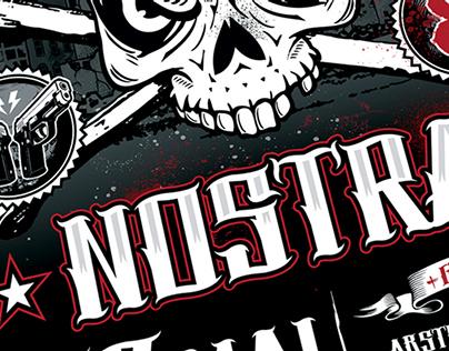 Affiche pour le concert de La Coka Nostra