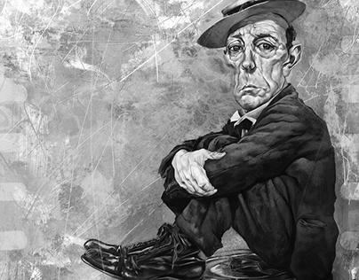 Buster Keaton Caricature
