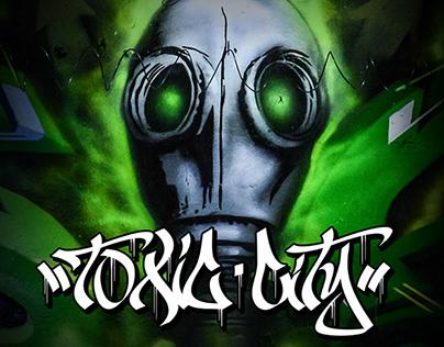 Toxic City - Graffiti Installation Gryfindor Exhibition