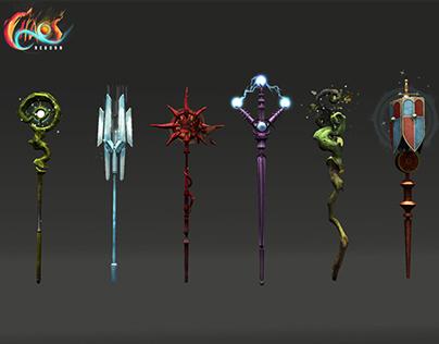 Chaos Reborn: Wizard Staffs
