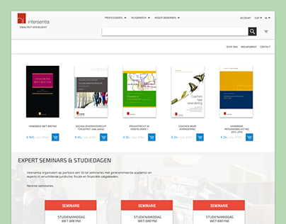 Redesign Intersentia website
