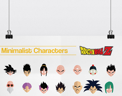 Minimalist Characters : Dragon Ball Z