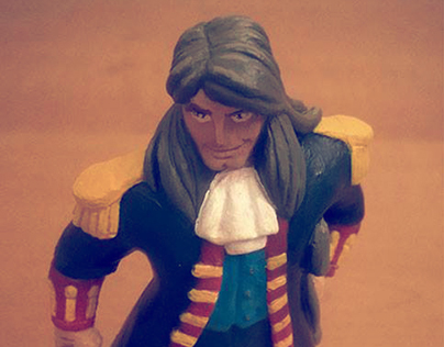 "Ghubli's John Silver 5.5"" 12cm statue figure"