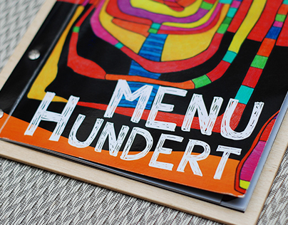 "New menu for event-cafe ""Hundertwasser"" (2014, Dp)"