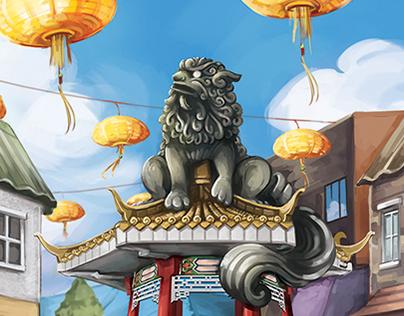 Chinatown Painting