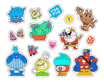 60+ Characters Design Atkombi Friends