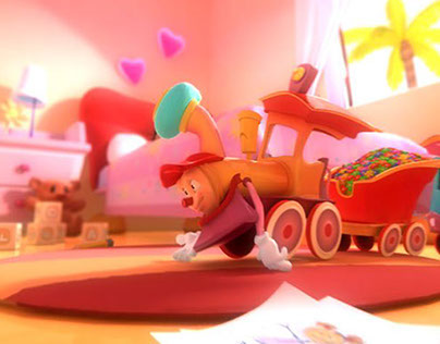 Qetar Al-Zohour ( flowers train ) Intro title animation