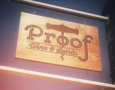Proof Wine and Spirits Branding & Identity Design