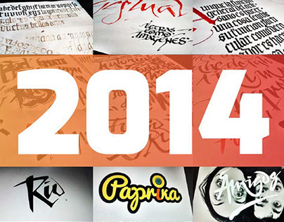 Summary lettering 2014 | Sketches