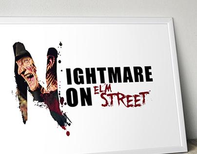 Nightmare on elm street Poster Design