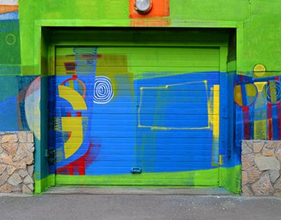 Glitch mural