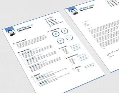 clean minimal resume template on behance