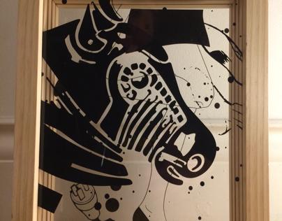 8x11 Wood and Acrylic surrealism