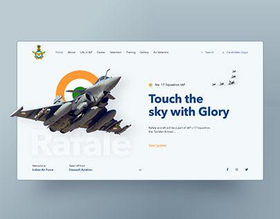 Rafale UI design concept