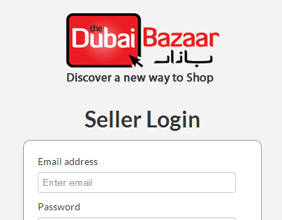 The Dubai Bazaar , Sellers Control Panel