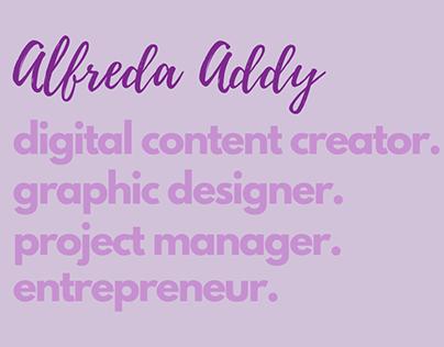 Alfreda Addy Graphic Design Portfolio